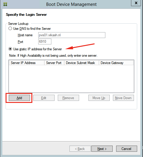 Citrix Provisioning Services create bootable ISO for target
