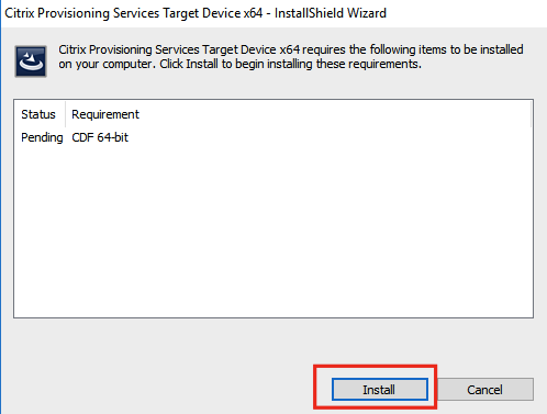 Creating a Windows 10 Target Device with Citrix Provisioning