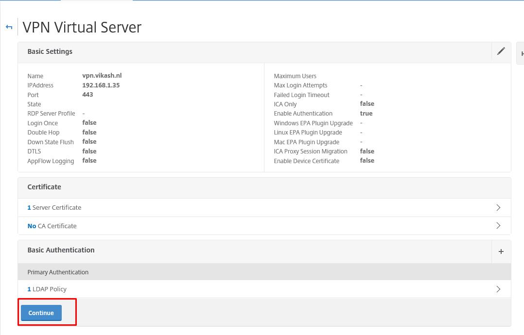 Full VPN Setup on Citrix NetScaler Gateway - Vikash