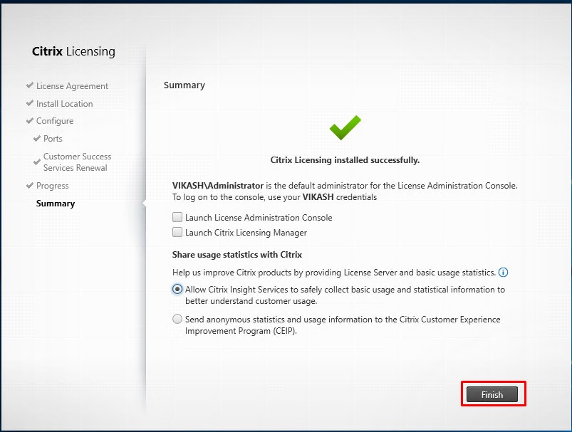 How to setup and configure Citrix Licensing Server 11 15